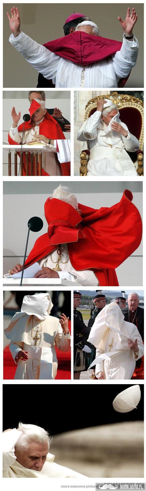 papież vs wiatr