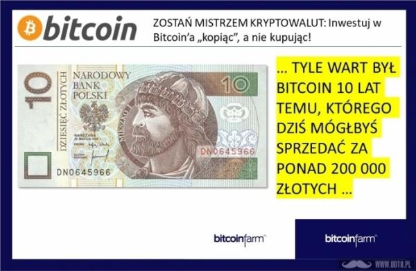 Bitcoin Kryptowaluty 200 000 zł Farma